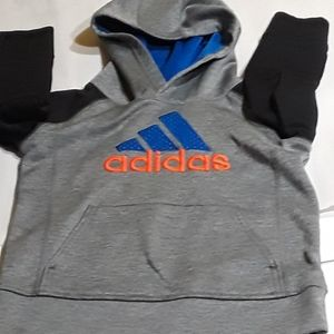 Adidas boys size 4 sweatshirt with attached hood